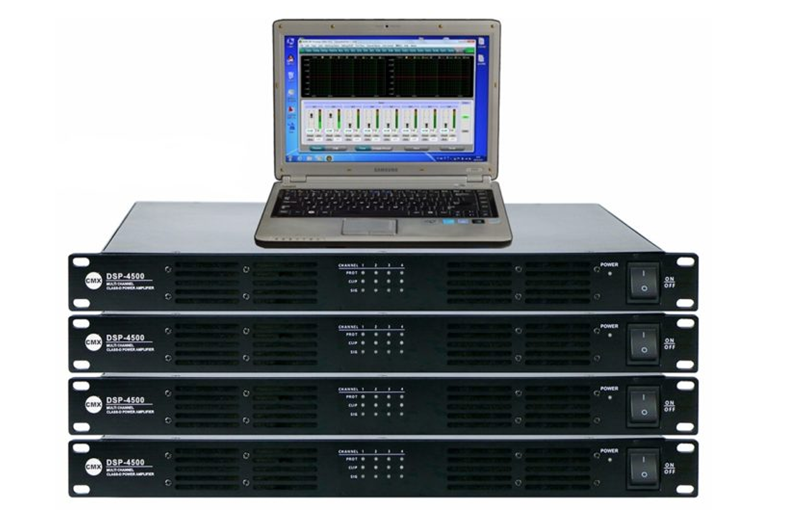 Four Channel DSP Power Amplifier with Dante DSP-4060 DSP-4120 DSP-4240 DSP-4350 DSP-4500