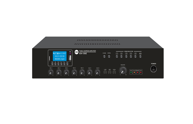5 Zone Mixer Amplifier with USB/SD/FM/Blue Tooth  EA-60Z/EA-120Z/EA-240Z/EA-350Z/EA-500Z/EA-650Z